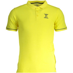 Textiel Dames Polo's korte mouwen Avx Avirex Dept AVBWPO01FIRE Polo shirt short sleeves Men yellow 3-ECHO yellow 3-ECHO