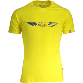 Textiel Dames T-shirts korte mouwen Avx Avirex Dept AVBWTS01BRI T-shirt Short sleeves Men yellow 3-ECHO yellow 3-ECHO