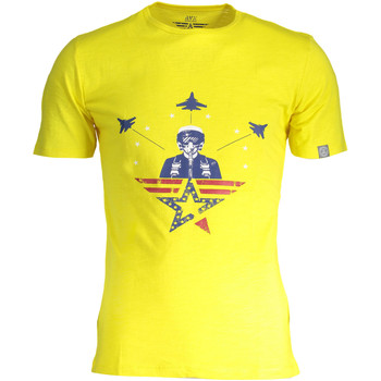 Textiel Dames T-shirts korte mouwen Avx Avirex Dept AVBWTS01ICAO T-shirt Short sleeves Men yellow 3-ECHO yellow 3-ECHO