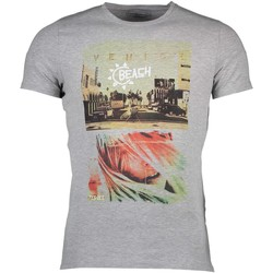 Textiel Heren T-shirts korte mouwen Yes Zee T709/TC02 GRAY 0842