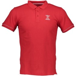 Textiel Heren Polo's korte mouwen Avx Avirex Dept AVBWPO01FIRE Polo shirt short sleeves Men red 6-DELTA red 6-DELTA