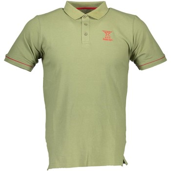 Textiel Heren Polo's korte mouwen Avx Avirex Dept AVBWPO01FIRE Polo shirt short sleeves Men green 9-NOVEMB green 9-NOVEMB