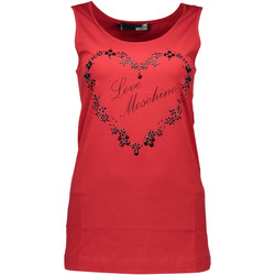 Textiel Heren Mouwloze tops Love Moschino W 4 E21 06 E 1257 RED O98