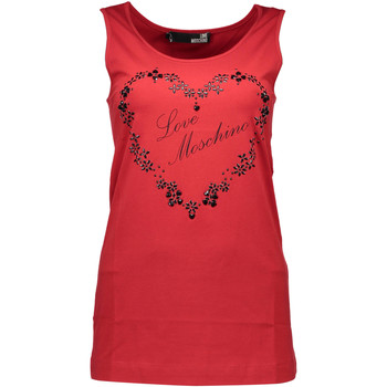 Textiel Heren Mouwloze tops Love Moschino W 4 E21 06 E 1257 tank top Women red O98 red O98