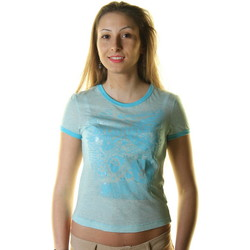 Textiel Dames T-shirts korte mouwen Killah 2086 T-shirt Short sleeves Women light blue light blue