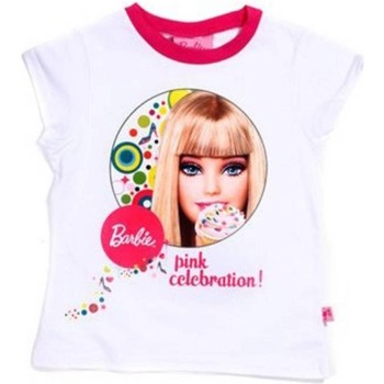 Textiel Kinderen T-shirts korte mouwen Barbie 22160 T-shirt Short sleeves Girls white 20 white 20