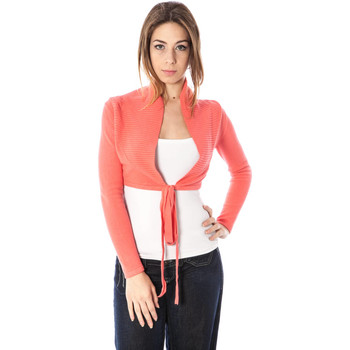Textiel Dames Vesten / Cardigans Kontatto 2481 CORALLO Shrugs with long sleeves Women pink RSS30 pink RSS30