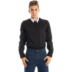 Textiel Heren Overhemden lange mouwen Papete 87U4510 Shirt Long Sleeves Men black UNICO black UNICO