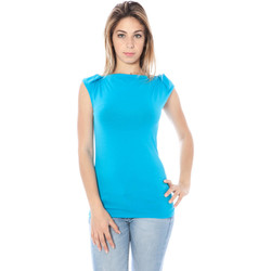 Textiel Dames Tops / Blousjes Nancy N. A28002 Q BLUE A2