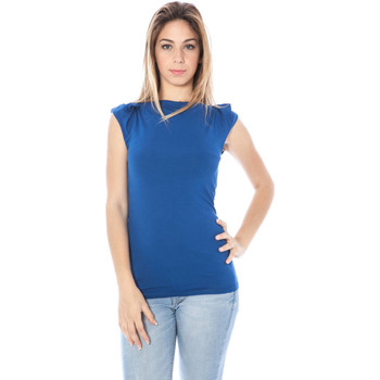 Textiel Dames Tops / Blousjes Nancy N. A28002 Q BLUE
