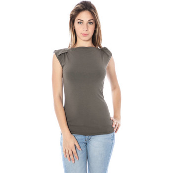 Textiel Dames Mouwloze tops Nancy N. A28002 Q GREEN V1