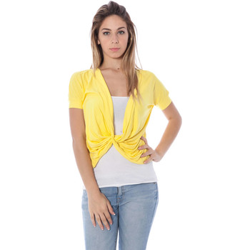 Textiel Dames T-shirts korte mouwen Nancy N. A28019 NODO yellow