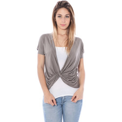 Textiel Dames T-shirts korte mouwen Nancy N. A28019 NODO brown