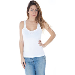Textiel Dames Mouwloze tops Datch A9K7039 white 101