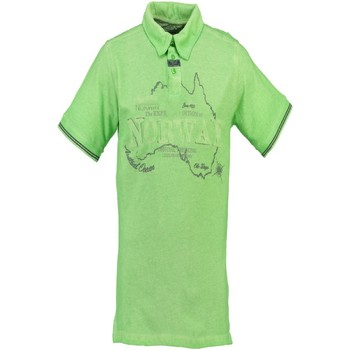 Textiel Dames Polo's korte mouwen Geographical Norway KEBEL green L-GREEN