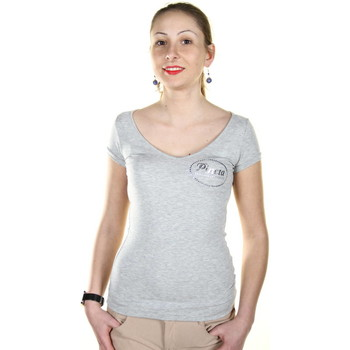 Textiel Dames T-shirts korte mouwen Pineta PD105 grey