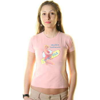 Textiel Heren T-shirts korte mouwen Just For You STSS1 SURF ROSE
