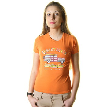 Textiel Heren T-shirts korte mouwen Just For You STSS8 AUTO ORANGE