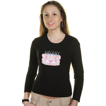 Textiel Heren T-shirts met lange mouwen Just For You TORTA BLACK