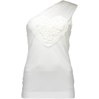Textiel Heren Mouwloze tops Love Moschino W 4 E38 01 M 3355 tank top Women white A00 white A00