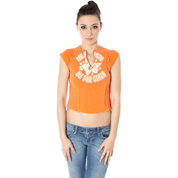 Textiel Dames T-shirts korte mouwen Zuelements Z1102080B001F7 orange 3300