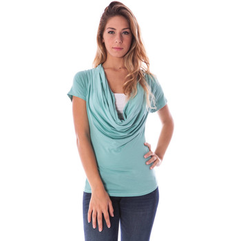 Textiel Dames Tops / Blousjes Nancy N. A28017 BLUE A1