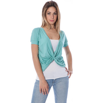 Textiel Dames Tops / Blousjes Nancy N. A28019 NODO BLUE A1
