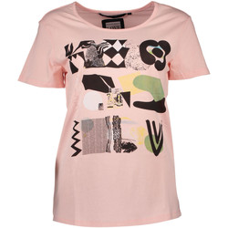 Textiel Dames T-shirts korte mouwen Silvian Heach PGP16768TS NW BOSIAG PINK ROSE