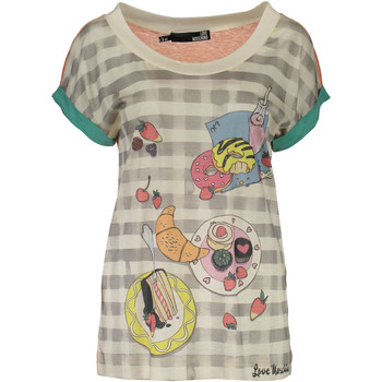 Textiel Dames T-shirts korte mouwen Love Moschino W 4 E18 01  M 3049 T-shirt Short sleeves Women MULTICOLOR 4136 MULTICOLOR 4136