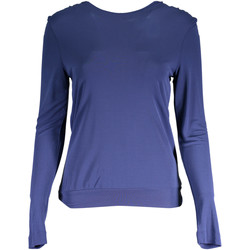 Textiel Dames T-shirts met lange mouwen Gant 1403.408301-1 T-shirt long sleeves Women blue 426 blue 426