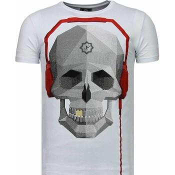 Textiel Heren T-shirts korte mouwen Local Fanatic Skull Bring The Beat - Rhinestone T-shirt 1