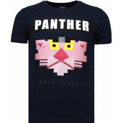 Textiel Heren T-shirts korte mouwen Local Fanatic Panther For A Cougar - Rhinestone T-shirt 19