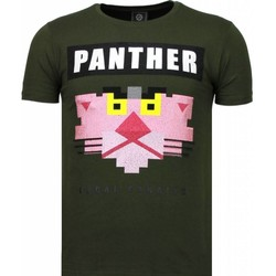 Textiel Heren T-shirts korte mouwen Local Fanatic Panther For A Cougar - Rhinestone T-shirt 25
