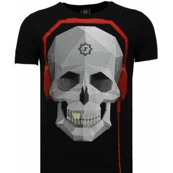 Textiel Heren T-shirts korte mouwen Local Fanatic Skull Bring The Beat - Rhinestone T-shirt 38