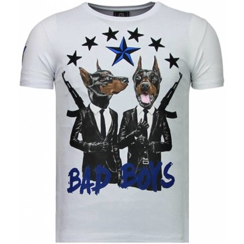 Textiel Heren T-shirts korte mouwen Local Fanatic Bad Boys Pinscher - Rhinestone T-shirt 1