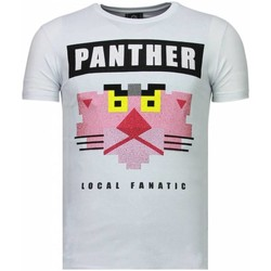 Textiel Heren T-shirts korte mouwen Local Fanatic Panther For A Cougar - Rhinestone T-shirt 1