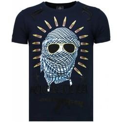 Textiel Heren T-shirts korte mouwen Local Fanatic Freedom Fighter - Rhinestone T-shirt 19