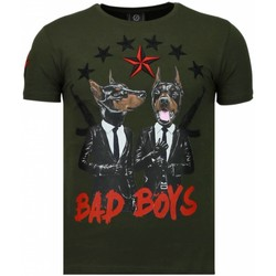 Textiel Heren T-shirts korte mouwen Local Fanatic Bad Boys Pinscher - Rhinestone T-shirt 25