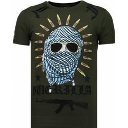 Textiel Heren T-shirts korte mouwen Local Fanatic Freedom Fighter - Rhinestone T-shirt 25
