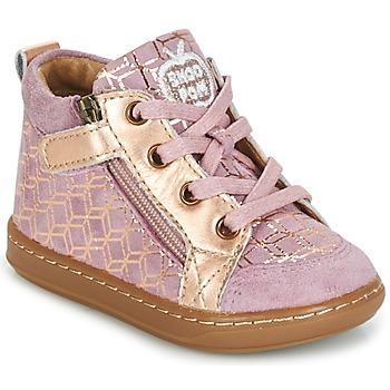 Schoenen Meisjes Hoge sneakers Shoo Pom BOUBA BI ZIP Roze / Koper