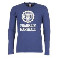 Textiel Heren T-shirts met lange mouwen Franklin & Marshall DESTU Marine