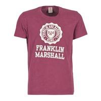 Textiel Heren T-shirts korte mouwen Franklin & Marshall GRAVI Bordeau