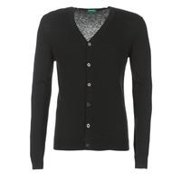 Textiel Heren Vesten / Cardigans Benetton MELODY Zwart