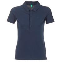 Textiel Dames Polo's korte mouwen Benetton MAJOU Marine