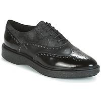 Schoenen Dames Derby Geox D PRESTYN Zwart