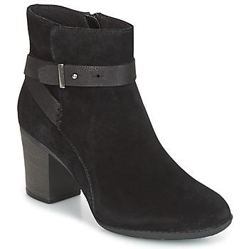 Schoenen Dames Derby Clarks ENFIELD SARI Zwart / Suede