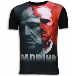 Textiel Heren T-shirts korte mouwen Local Fanatic El Padrino - Digital Rhinestone T-shirt 38