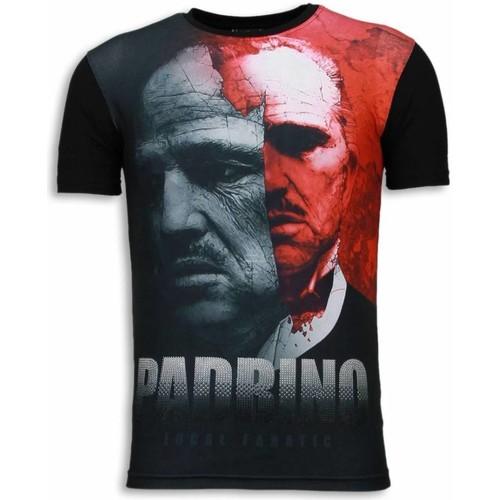 Textiel Heren T-shirts korte mouwen Local Fanatic El Padrino Digital Rhinestone Zwart