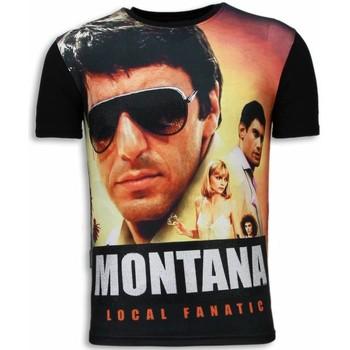 Textiel Heren T-shirts korte mouwen Local Fanatic Tony Montana - Digital Rhinestone T-shirt 38