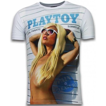 Textiel Heren T-shirts korte mouwen Local Fanatic Playtoy Summer Jam - Digital Rhinestone T-shirt 1